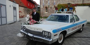 Hochzeitsauto-Vermietung - Einzugsgebiet: international - Franken - Dodge Monaco Chicago Police Car von bluesmobile4you