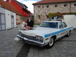 Hochzeitsauto-Vermietung - US-Car - Dodge Monaco Chicago Police Car von bluesmobile4you - Dodge Monaco Chicago Police Car von bluesmobile4you